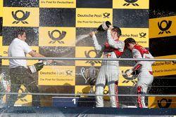 Mattias Ekström, Audi Sport Team Abt Sportsline, Audi A5 DTM, und Hans-Jurgen Abt, Teamchef Abt-Audi