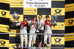 Podium, 2nd Mike Rockenfeller, Audi Sport Team Phoenix Audi RS 5 DTM, 1st Mattias Ekstrom, Audi Spor