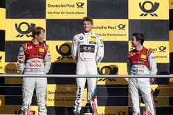 Championship Podium, 2nd Mattias Ekstrom, BMW Team RMG BMW M4 DTM, 3rd Mike Rockenfeller, Audi Sport