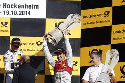 Championship Podium, 3rd Mike Rockenfeller, Audi Sport Team Phoenix Audi RS 5 DTM