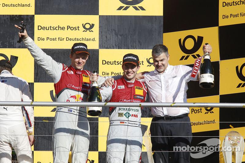 Şampiyona Podyumu, İkinci Mattias Ekstrom, Audi Sport Takımı Phoenix Audi RS 5 DTM, Dieter Gass, Audi Sport