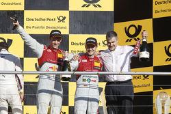 Campeonato Podio, Mattias Ekstrom segundo, Audi Sport Team Phoenix Audi RS 5 DTM, Dieter Gass, Audi Sport