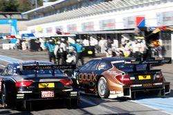 Timo Scheider, Audi Sport Team Phoenix Audi RS 5 DTM en Pascal Wehrlein, Mercedes AMG DTM-Team HWA D