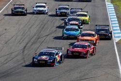 Start van de race, Mattias Ekstrom, Audi Sport Team Abt Sportsline, Audi A5 DTM