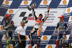 Podium: 1. Marc Marquez, 2. Valentino Rossi, 3. Jorge Lorenzo