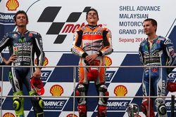 Podium: 1. Marc Marquez, Repsol Honda Team; 2. Valentino Rossi, Yamaha; 3. Jorge Lorenzo, Yamaha