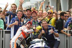 Valentino Rossi, Yamaha y Marc Márquez, Repsol Honda Team