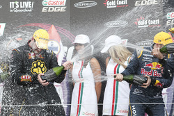 Racewinnaars Shane van Gisbergen en Jonathon Webb