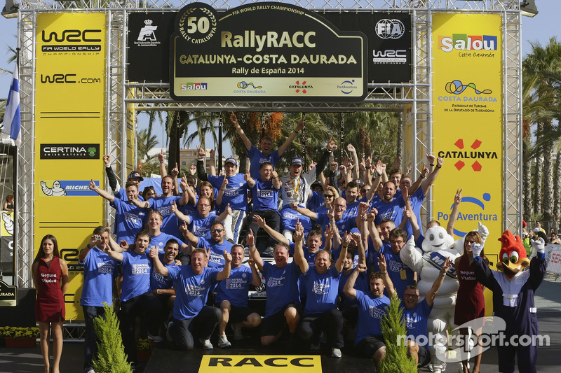 Ganadores y 2014 campeones del WRC Sébastien Ogier y Julien Ingrassia, Volkswagen Polo WRC, Volkswag