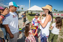 Juan Pablo Montoya with wife Connie Montoya and son Sebastian Montoya