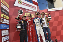 Pirelli amateur podium: race winner Vadim Gitlin, second place Ezequiel Perez Companc, third place G