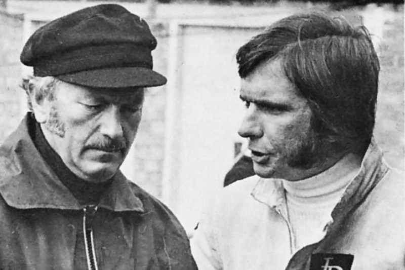 Emerson Fittipaldi and Colin Chapman