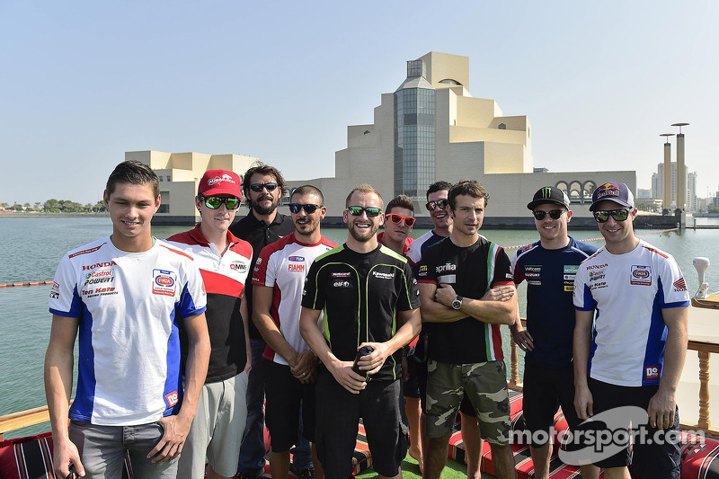 The World Superbike Drivers enjoy a trip around the bay