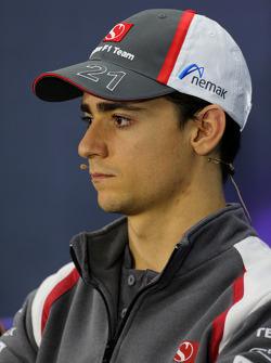 Esteban Gutiérrez, Sauber F1 Team en la conferencia de prensa de la FIA
