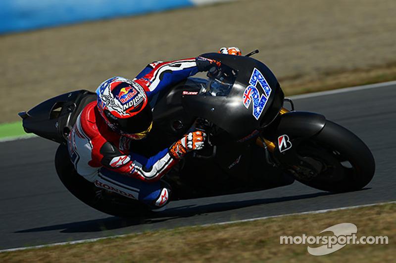 Casey Stoner pone a prueba la Honda MotoGP