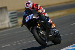 Casey Stoner tests the Honda MotoGP