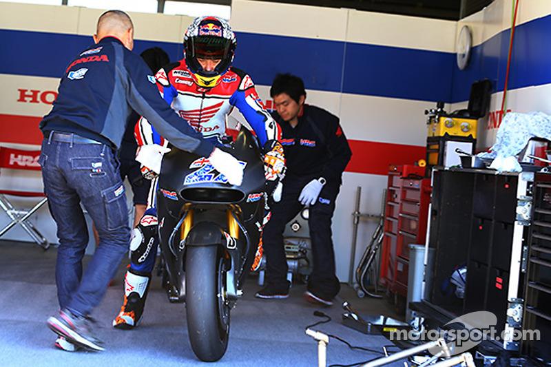Casey Stoner prova la Honda MotoGP