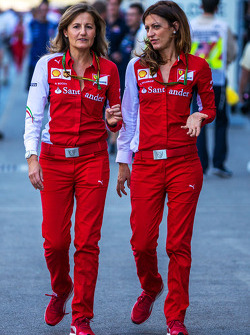 (L to R): Stefania Bocchi, Ferrari Press Officer with Roberta Vallorosi, Ferrari Press Officer