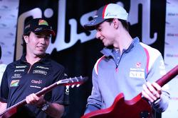 Sergio Pérez et Esteban Gutiérrez lors du forum pour les fans