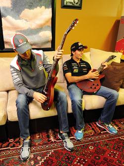 Esteban Gutiérrez avec Sergio Pérez lors du forum pour les fans