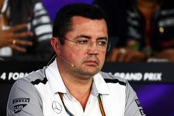 Eric Boullier, director de McLaren Racing, en la conferencia de prensa de la FIA