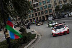 Parade in downtown Baku