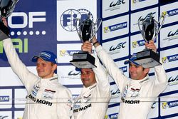 Podium: third place Marc Lieb, Neel Jani, Romain Dumas