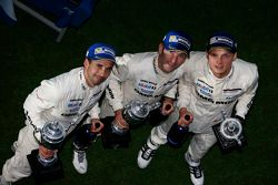 Podium: third place Neel Jani, Romain Dumas, Marc Lieb