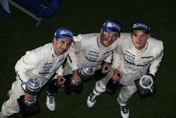 Podium: third place Neel Jani, Romain Dumas, Marc Lieb