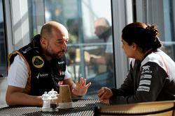 Gerard Lopez, Lotus F1, Teamchef; Monisha Kaltenborn, Sauber, Teamchefin