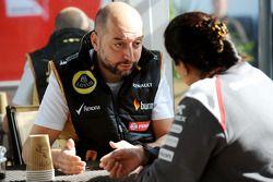 (L to R): Gerard Lopez, Lotus F1 Team Principal with Monisha Kaltenborn, Sauber Team Principal