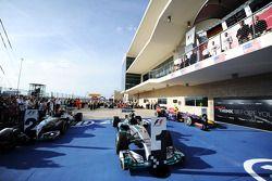 The Mercedes AMG F1 W05 of Lewis Hamilton, Mercedes AMG F1 in parc ferme