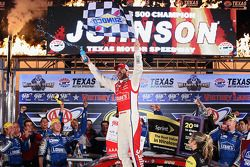 Jimmie Johnson celebrates