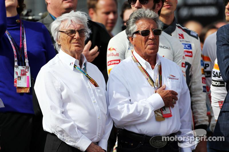 Bernie Ecclestone avec Mario Andretti