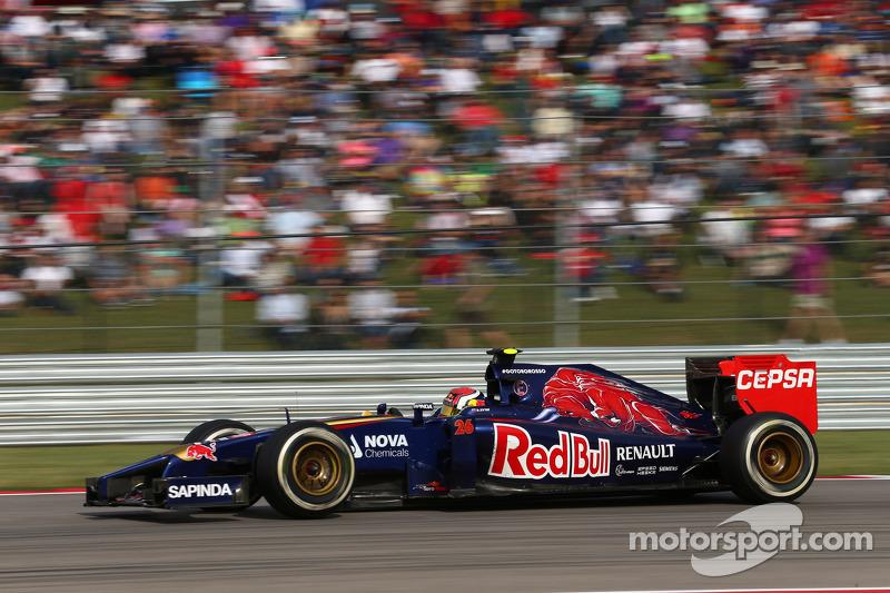 2014 год. За рулем болида Toro Rosso STR9 в гонке