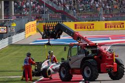 Sauber C33, retiran el auto de Adrian Sutil