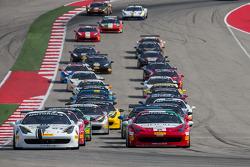 Start: #27 Ferrari of Houston: Mark McKenzie leads
