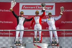 TP podium: race winner Ricardo Perez, second place Scott Tucker, third place Mark McKenzie