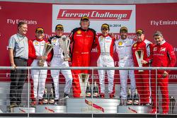 TP podium: race winner Ricardo Perez, second place Scott Tucker, third place Mark McKenzie, CS podiu