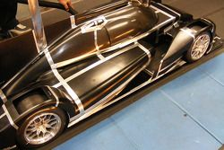 The BR01 undergoing wind tunnel testing