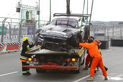 #76 BMW Sports Trophy Team Schubert BMW Z4: Jens Klingmann, Dominik Baumann in trouble