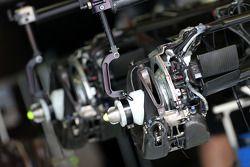 Technisch detail van de Mercedes