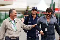 Felipe Nasr, Williams Test and Reserve Driver, with Steve Robertson, Driver Manager (Right)