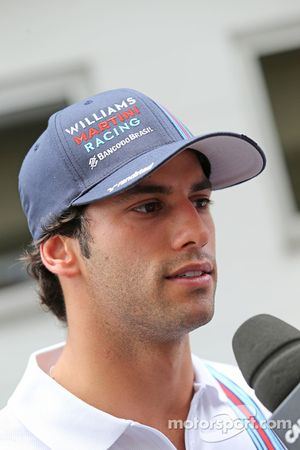 Felipe Nasr, Williams Test and Reserve Driver with the media