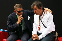 (L to R): Lapo Elkann, Fiat Brand Manager with Giuseppe Allievi, Journalist
