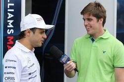 Felipe Massa, Williams interviewed by Luiz Razia