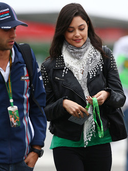 Felipe Nasr, Williams Test and Reserve Driver with his girlfriend Giulia Maria Testoni