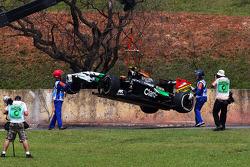 Unfall: Daniel Juncadella, Sahara Force India F1 Team, Testfahrer