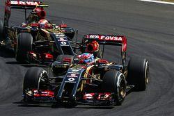 Romaen Grosjean, Lotus F1 E22 lidera a su compañero Pastor Maldonado, Lotus F1 E21