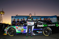 Pole position Denny Hamlin, Joe Gibbs Racing Toyota